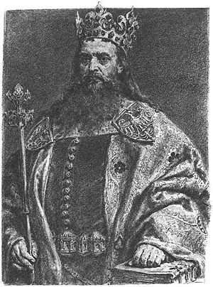 Biecz - King Casimir the Great, who was greatly interested in the economic development of Biecz, and under whose rule the city flourished.