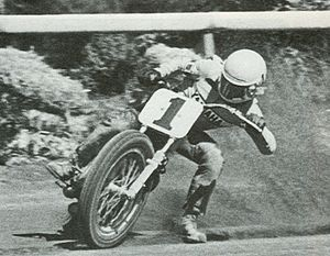 Kenny Roberts - Roberts competing in an AMA Grand National Championship dirt track event.
