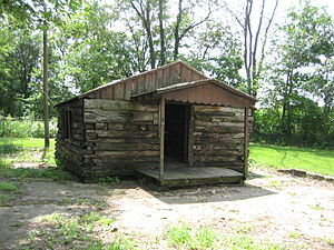 Kellogg's Grove - The log cabin at the park was moved to the site in 1981.
