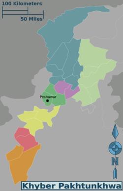Map of Khyber Pakhtunkhwa