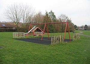 English: Kids playground Open land on the Clar...