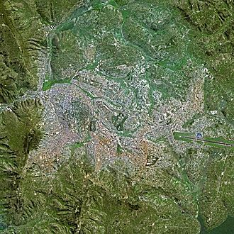 Kigali - Kigali seen from Spot Satellite