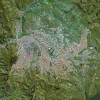 Kigali - Kigali seen from Spot Satellite