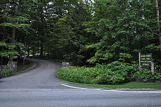 Gifford Woods State Park - Park entrance