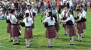 A pipe band in competition at the Skagit Valle...
