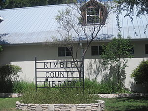 Kimble County, Texas - Kimble County Library in Junction contains the museum of the late U.S. Representative O.C. Fisher.