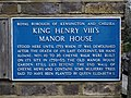 King Henry VIII's Manor House stood here until 1753 when it was demolished after the death of its last occupant, Sir Hans Sloane.jpg