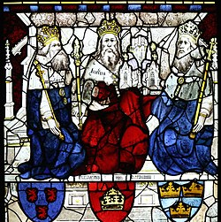 King Lucius and two other Kings, East Window, York Minster.jpg