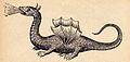 Kircher, Athanasius — Mundus Subterraneus — Winged dragon (on the ground) — 1665.jpg