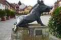 Kirchheimbolanden – der Keiler ist das Wappentier – Bronzeplastik von Martin Mayer - panoramio.jpg