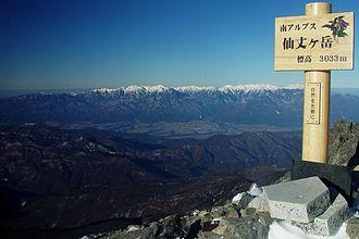 Kiso Mountains - Image: Kiso Mountains from Mount Senjo 2004 1 4