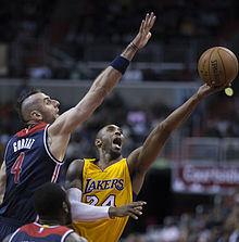 8d17c732c03a Bryant shooting against Marcin Gortat of the Washington Wizards