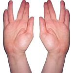Kohanim hands blessing photo