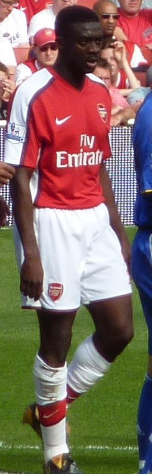 Kolo Touré - Touré playing for Arsenal.