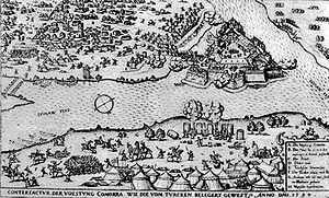 Komárno - Siege of Komárom Fortress by the Ottoman Turks in 1594