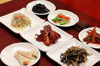 Banchan - Image: Korean cuisine Banchan 11
