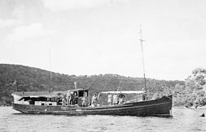 Krait in Darwin Harbour during World War II
