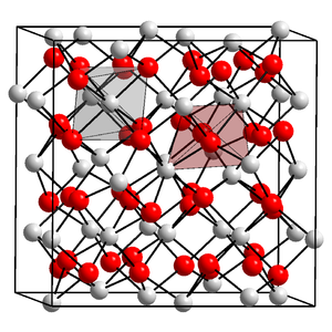 Ytterbium - Crystal structure of ytterbium(III) oxide