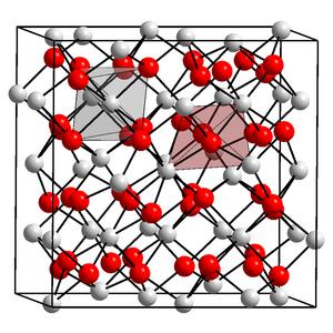 Ytterbium - Crystal structure of ytterbium(III) oxide