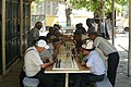 Kyrgyz men playing chess in Osh.jpg
