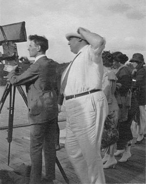 Léonce Perret - Perret on the set in 1930