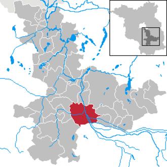 Lübben (Spreewald) - Image: Lübben (Spreewald) in LDS