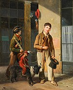 LOUIS JOSEPH TOUSSAINT ROSSIGNON Two Savoyards with a monkey and a dog.jpg
