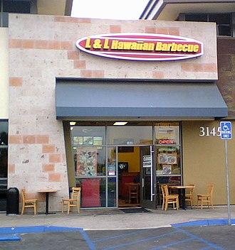 L&L Hawaiian Barbecue - Image: L and L San Diego
