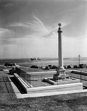 New South Wales Government Architect - The memorial to La Pérouse on Botany Bay photographed 1954