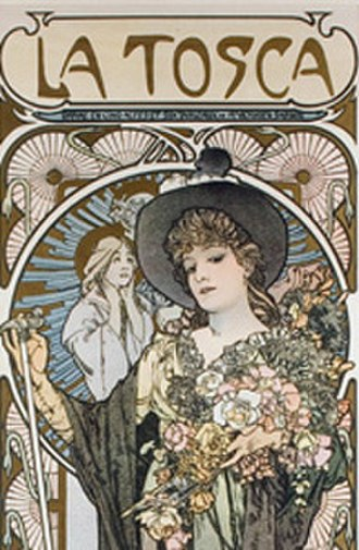 La Tosca - Poster by Alphonse Mucha depicting Sarah Bernhardt in the title role