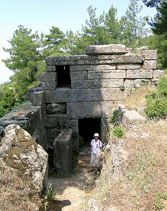 Labraunda - Tomb of 4th century BCE Carian Dynast Idrieus in Labraunda.