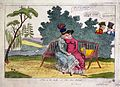 Lady Strachan and Lady Warwick making love in a park, while Wellcome L0029887.jpg