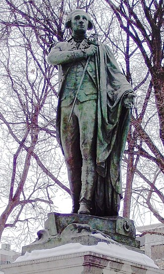 Frédéric Auguste Bartholdi - Image: Lafayette statue Union Square closeup