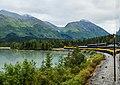 Lago Kenai, trayecto ferroviario escénico Seward-Anchorage, Alaska, Estados Unidos, 2017-08-21, DD 93.jpg