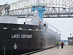Lakes Contender entering the Lock (7171974122).jpg