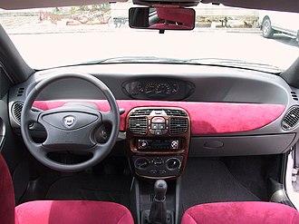Alcantara (material) - Pink Alcantara in the Lancia Y