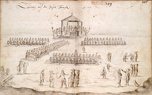 Dutch pacification campaign on Formosa - A landdag meeting between the Dutch and Formosans