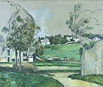 Landscape in Northern France by Cezanne (Kagoshima City Museum of Art).jpg