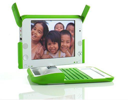 Φωτογραφία ενός Laptop OLPC a
