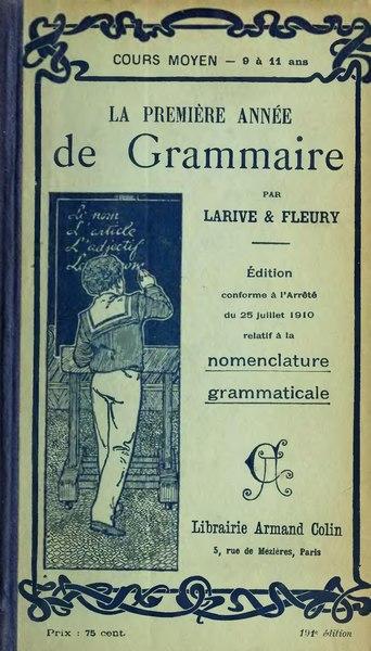 File:Larive Fleury Grammaire 1910 tome 2.djvu