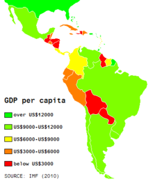 List Of Latin American And Caribbean Countries By Gdp Ppp