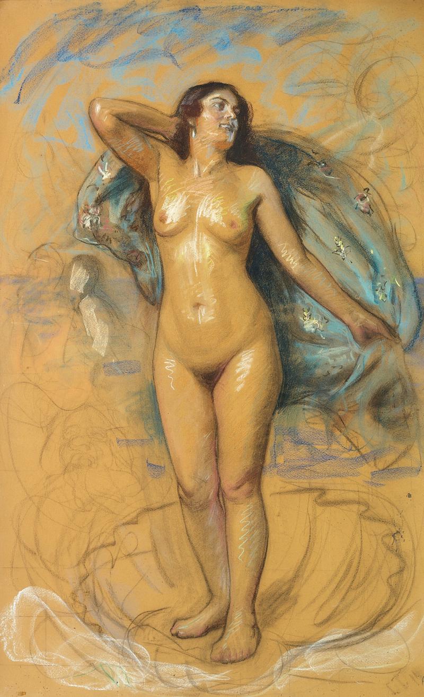 Laurits Tuxen - Venus' fшdsel - 1911.png