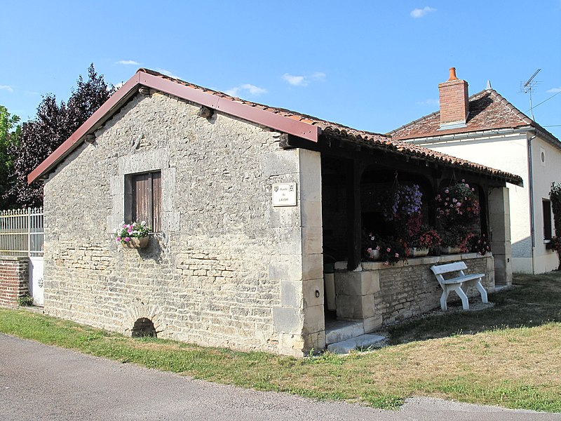 The wash house of la Rothière (Aube, France).