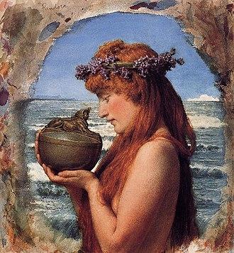 Pandora's box - Lawrence Alma-Tadema's water-colour of an ambivalent Pandora, 1881