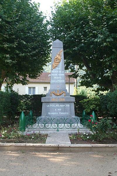 Le Poujol-sur-Orb (Hérault) - monument aux morts.