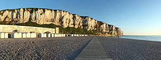 Le Tréport - Le Tréport's cliffs, at sunset