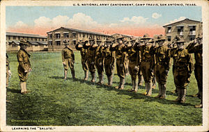 Forts of Texas - Camp Travis (postcard, circa 1917-1922)