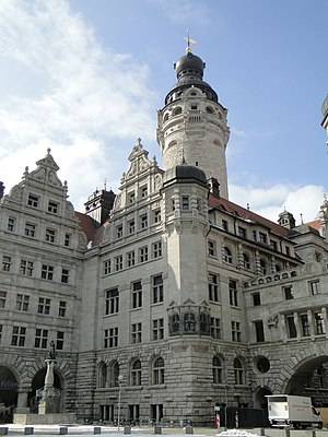 New Town Hall (Leipzig) - The tower of Leipzig's New Town Hall is the tallest of all in Germany.