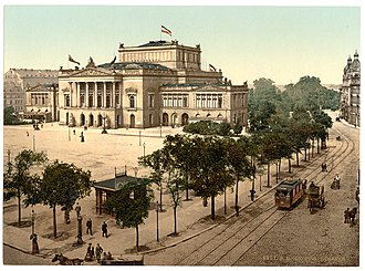 Leipzig - Augustusplatz with Leipzig Opera House, around 1900