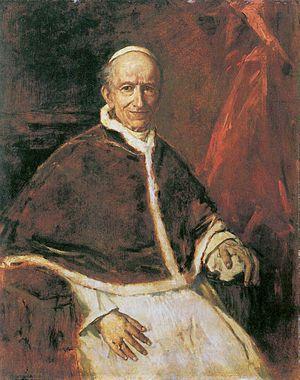 Franz von Lenbach - Portrait of Pope Leo XIII